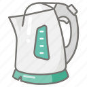appliance, boiling, electric, jug, kettle, kitchen icon
