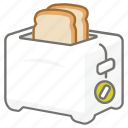 appliance, electric, kitchen, maker, toast, toaster