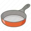 cookware, fry, frying, frypan, kitchen, pan, skillet icon