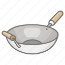 asian, cooking, pan, stir, stirfry, vessel, wok icon