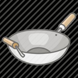 asian, cooking, pan, stir, stirfry, vessel, wok icon