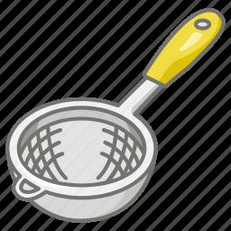 kitchen, ladle, sieve, sifter, strain, strainer, utensil icon