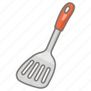cookware, egg, fish, slice, spatula, turner, utensil icon