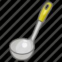 kitchen, ladle, serving, soup, spoon, utensil