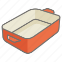 baking, casserole, cook, cooking, cookware, dish, tray icon