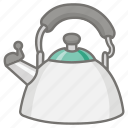 antique, kettle, kitchen, pot, tea, teakettle, traditional icon