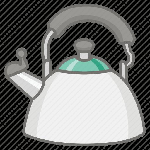 antique, kettle, kitchen, pot, tea, teakettle, traditional icon
