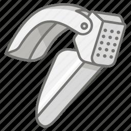 cooking, crusher, food, garlic, kitchen, press, utensil icon