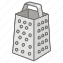 box, cheese, grater, kitchen, shredder, utensil icon