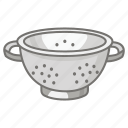 colander, cullender, draining, kitchen, pasta, strainer, utensil icon
