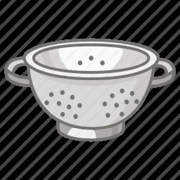 colander, cullender, draining, kitchen, pasta, strainer, utensil icon