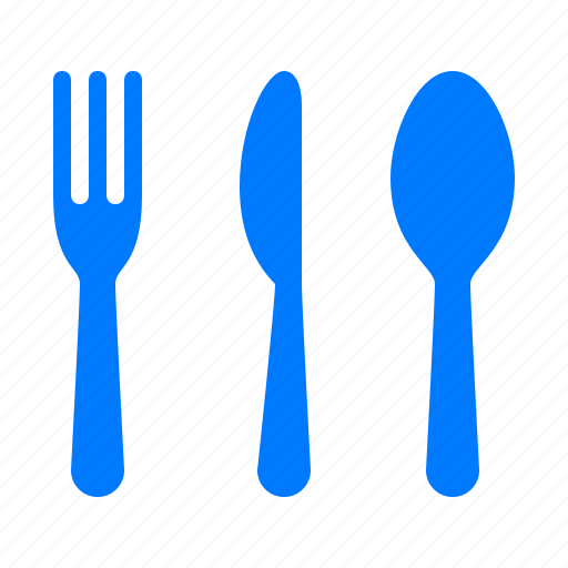 bake, cook, cutlery, flatware, fork, kitchen, knife, silverware, spoon, utensils icon