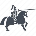 armor, horse, knight, knight and war icon