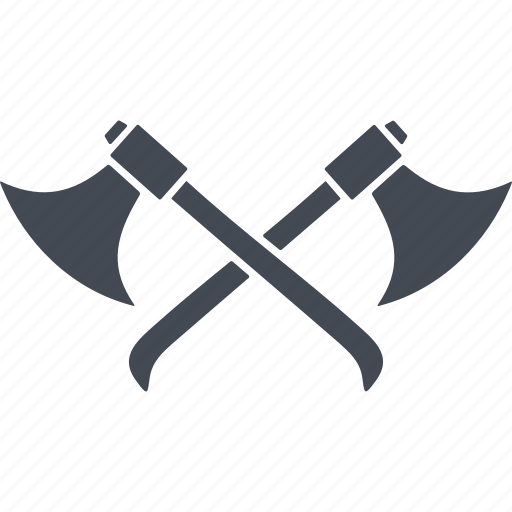 ax, hatchets, knight and war, weapon icon