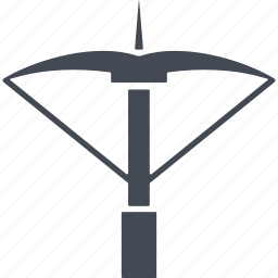 bow, crossbow, knight and war, medieval, weapon icon