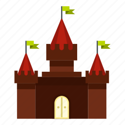 ancient, building, castle, historical, medieval, old, tower icon