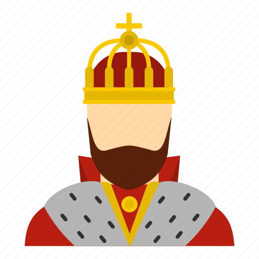 ancient, beard, cape, carnival, king, medieval, old icon
