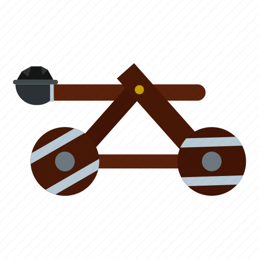 ancient, catapult, historical, medieval, old, shooting, siege icon