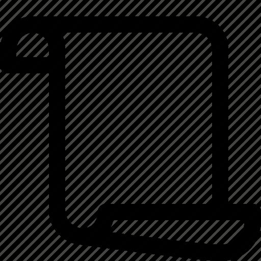document, manuscript, paper scroll, report, script, scroll icon