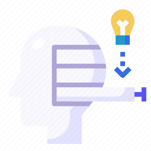 drawer, education, intelligence, mind, thinking icon