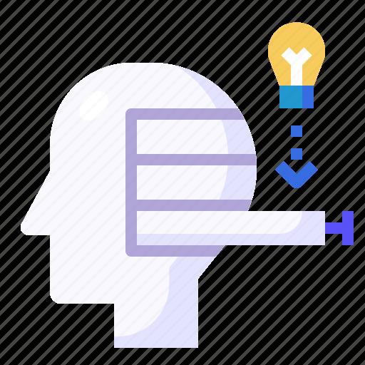 Drawer, education, intelligence, mind, thinking icon - Download on Iconfinder