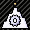 attempt, gear, goal, star, success