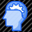 cogwheel, gear, head, mind, performance