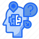 doubt, intelligence, knowledge, problem, question icon