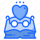 book, bookworm, learning, reading, studying icon