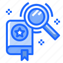 book, education, reading, search, study icon