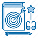 book, creative, favorite, knowledge, learn, lessons, study icon