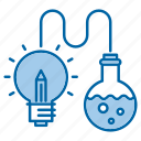 creative, knowledge, lab tube, science, smart, solution, study icon