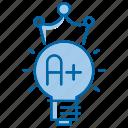 best, education, grade, idea, king, school icon