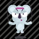 emoji, emoticon, jumprope, koala, smiley, sticker, workout icon