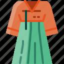 clothing, costume, dress, female, korea, tradition, woman