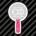 exid, keychain, korean, kpop, light, lightstick, stick icon