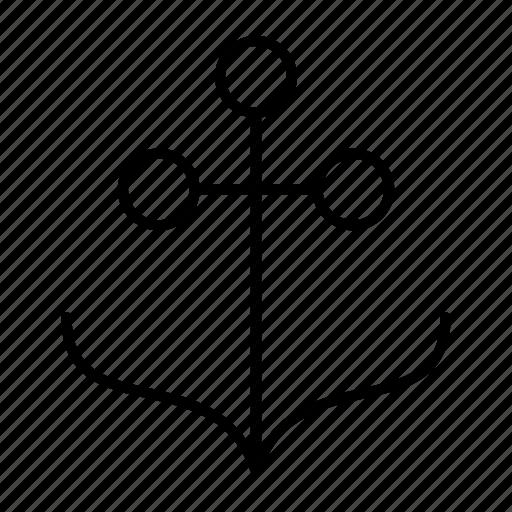 anchor, bay, port, ship, shipment icon