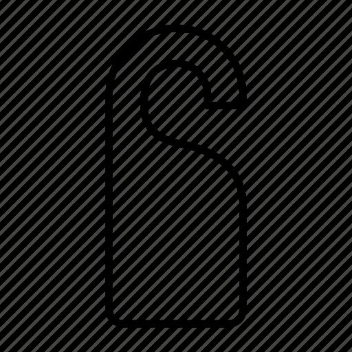 disturb, do, door, not, sign icon