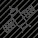 communication, satellite, device, plate, solar, orbit, antenna