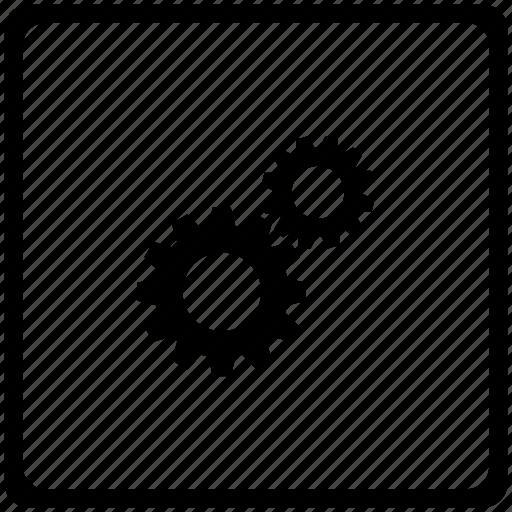 engine, gears, mechanism icon