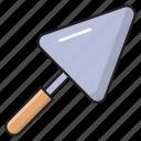 construction, tools, labor, masonry, trowel icon