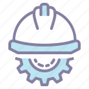 construction, gear, helmet, labor icon