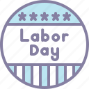 badge, labor, labour, may icon
