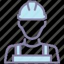 avatar, construction, labor, mechanic icon
