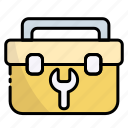 toolbox, toolkit, construction, equipment, tool, tools
