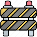 road block, barrier, road barrier, block, barricade, construction barrier, stop