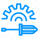 driver, screw, tool icon