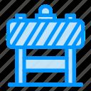 blocker, board, sign, traffic icon