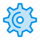gear, spin, teeth, wheel icon