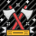 axe, hatchet, medieval, tool, weapon icon